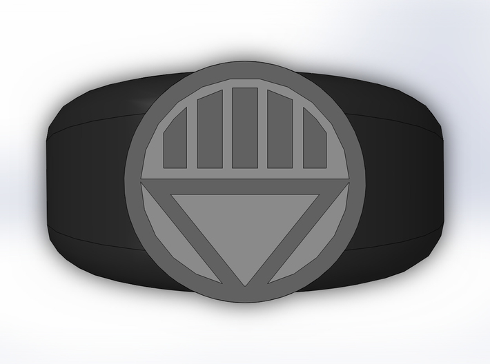Black Lantern Ring 3d printed
