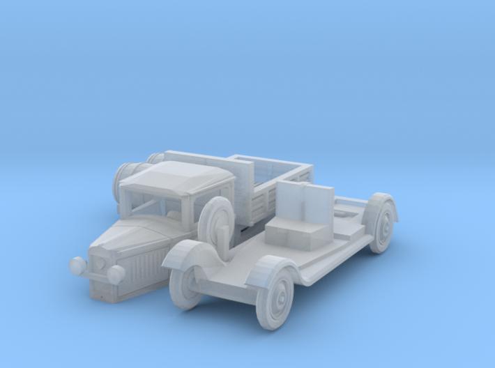 Peugeot 201 T Camionnette avec tonneaux (N 1:160) 3d printed