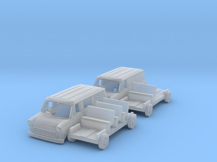 SET 2x Ford Transit (British N 1:148) 3d printed