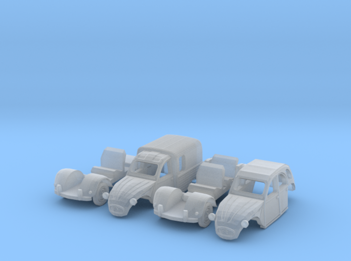 SET 2x Citroën 2CV (British N 1:148) 3d printed