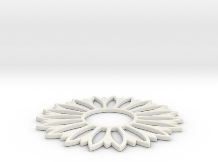Pendant Flower 7 3d printed
