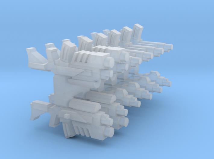 """""""Sculptor's Pack"""" 15mm AK-X Sci-Fi Rifles (12 pcs) 3d printed"""