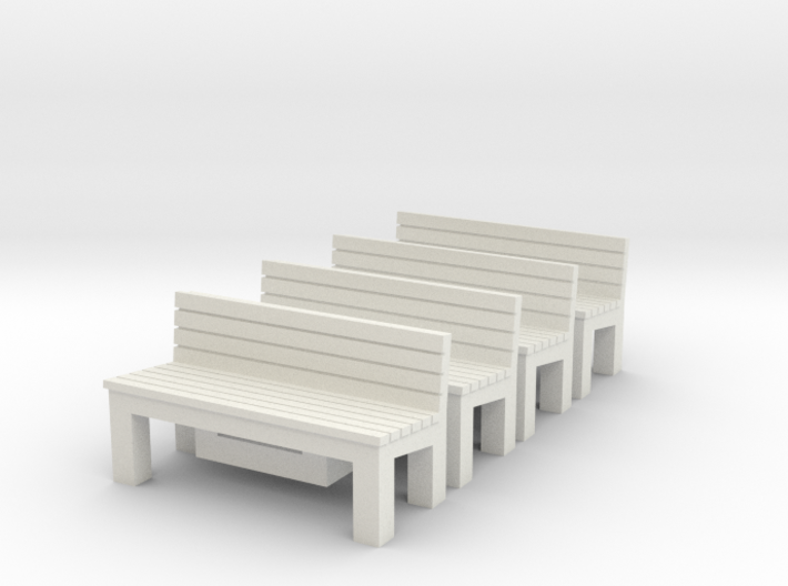 4 x Benches Nm 1:160 3d printed