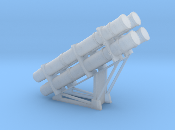 1:96 scale Harpoon Launcher - loaded- in set of 2 3d printed