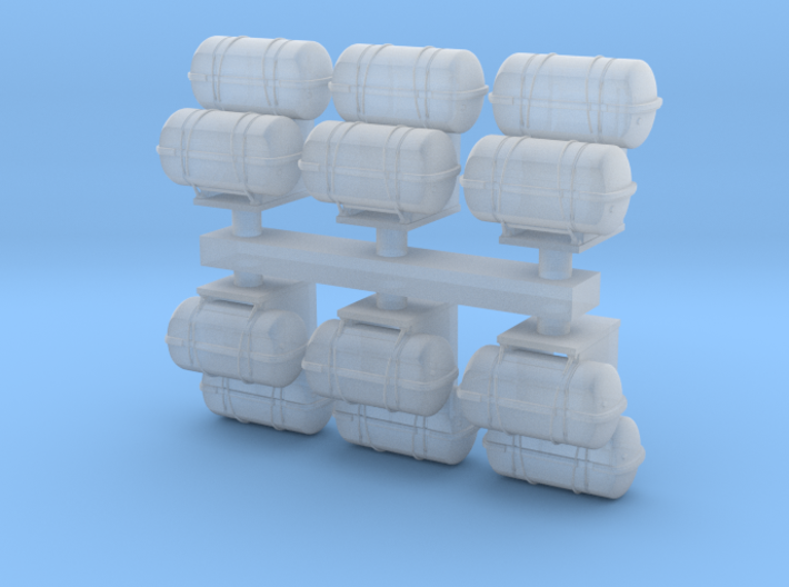 1:72 Life Boat Canister Stacked - Set of 6 3d printed