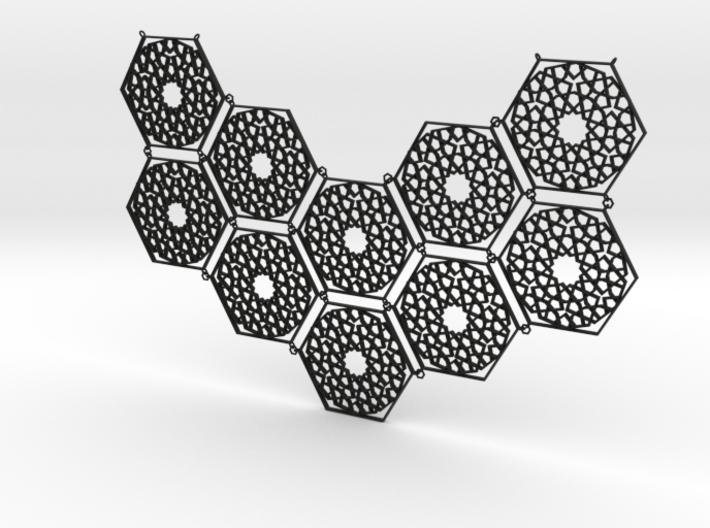 J&M Islamic Inspired Geometric Half Necklace 3d printed