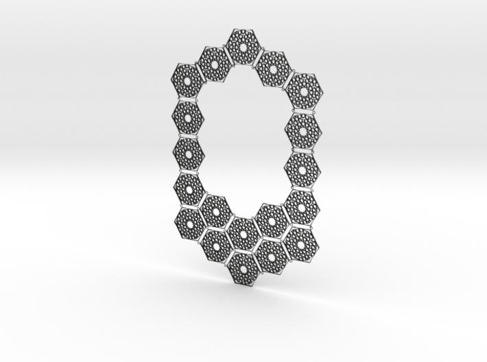 J&M Islamic Inspired Geometric Full Necklace 3d printed