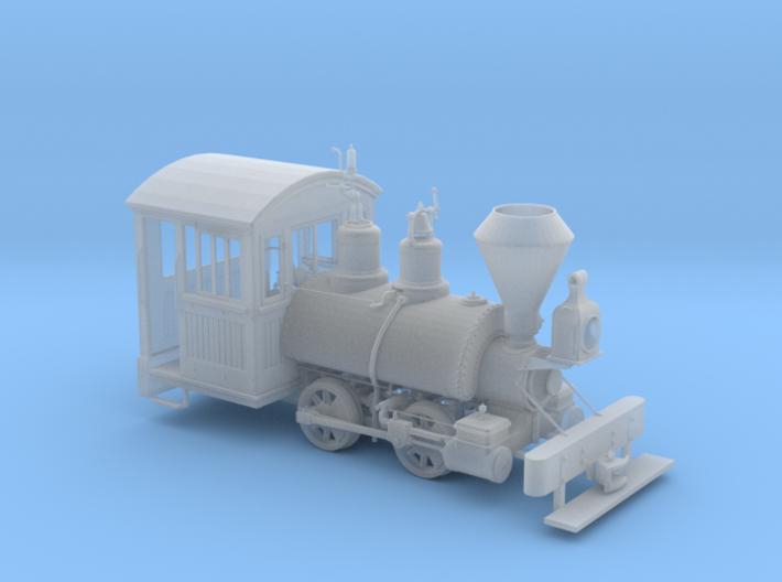 1:48 scale Kauila narrow gauge 0-4-0 Model 3d printed