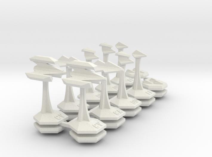 MicroFleet Webbian Carrier Group (21pcs) 3d printed