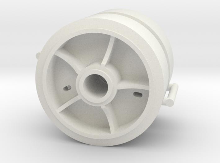 Two 1/16 scale 5 spoke pressed steel wheels 3d printed