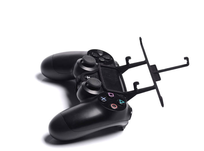 PS4 controller & Spice Stellar 470 (Mi-470) 3d printed Without phone - A Samsung Galaxy S3 and a black PS4 controller