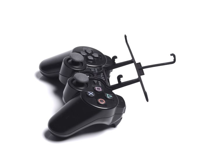 PS3 controller & Spice Stellar 440 (Mi-440) 3d printed Without phone - A Samsung Galaxy S3 and a black PS3 controller