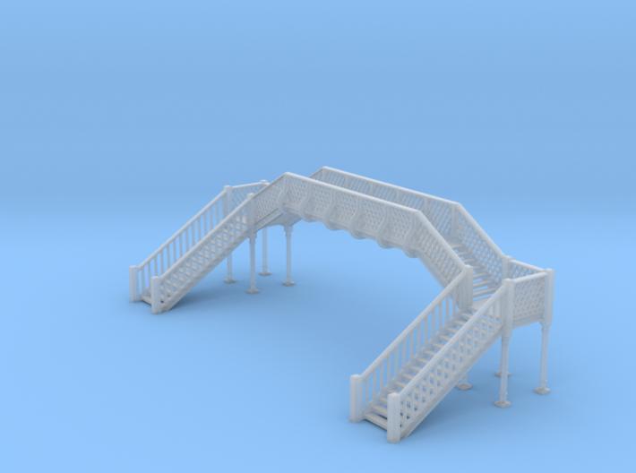 Footbridge N Scale 3d printed