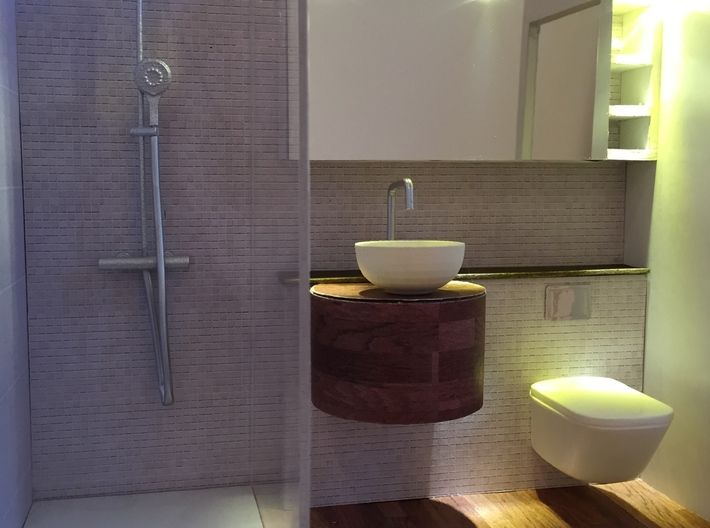 1:12 Duscharmatur/Shower panel 3d printed Mini bathroom by Marion