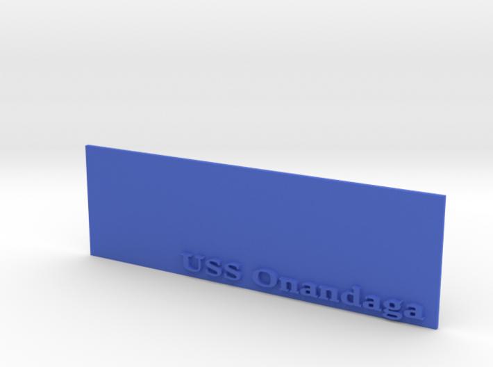 Base for 1/600 USS Onondaga 3d printed