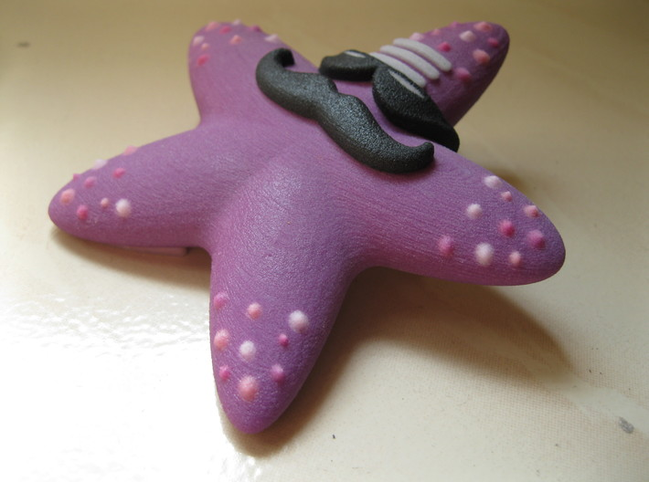 Indian Hippie Starfish (coloured) 3d printed