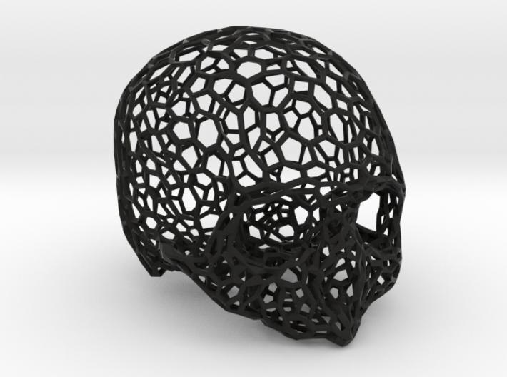 Voronoi Female Skull [real size] 3d printed