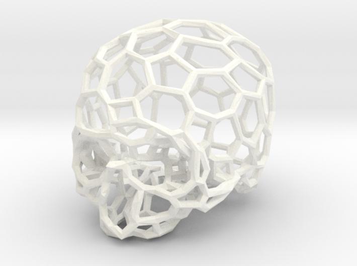 Voronoi Skull [1:0.5] 3d printed