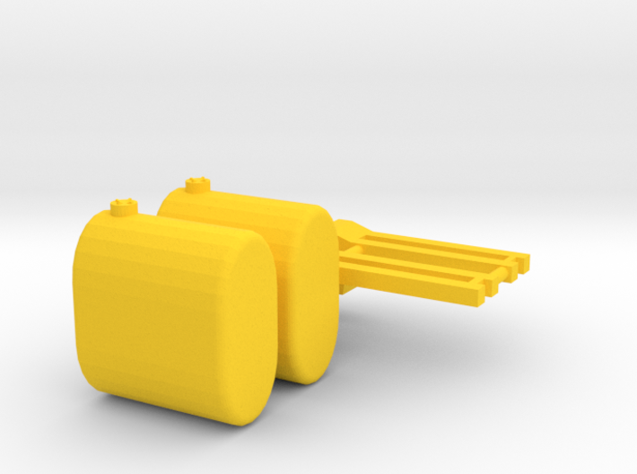 1/64 Brackets And saddle tankTanks 3d printed