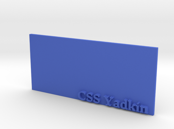 Base for 1/600 CSS Yadkin 3d printed