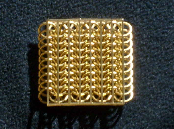 Chainmail6-80 3d printed bronze model as delivered