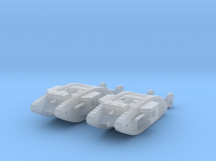 1/240 WW1 Mk I Male tank 3d printed