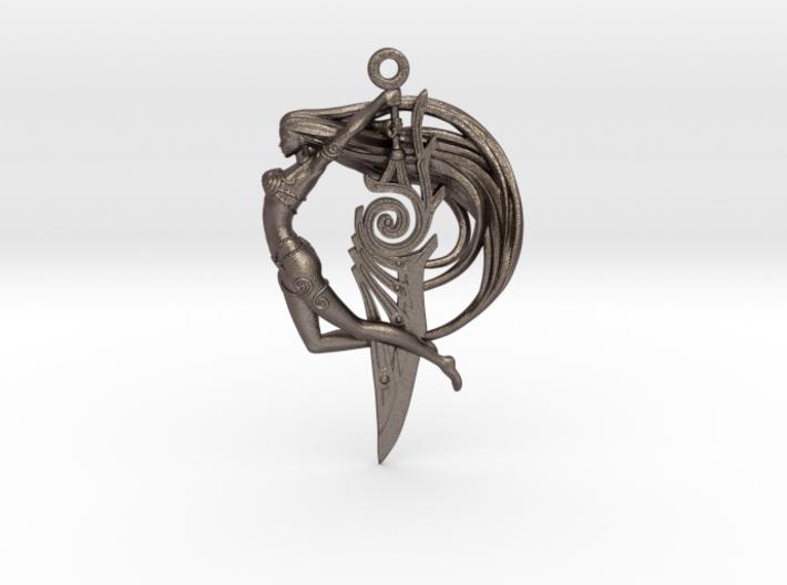 Sword Maiden Pendant 3d printed