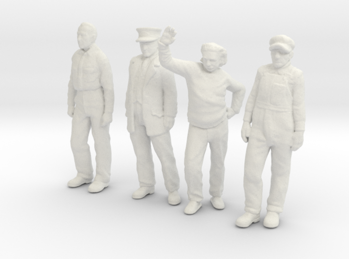 1:29 scale low res standing figure pack 3d printed