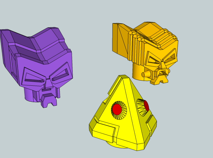 4 Robo Heads (4.9mm port) 3d printed
