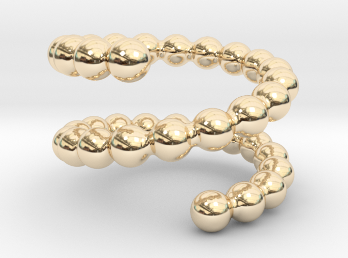 Spiral ring 17 3d printed