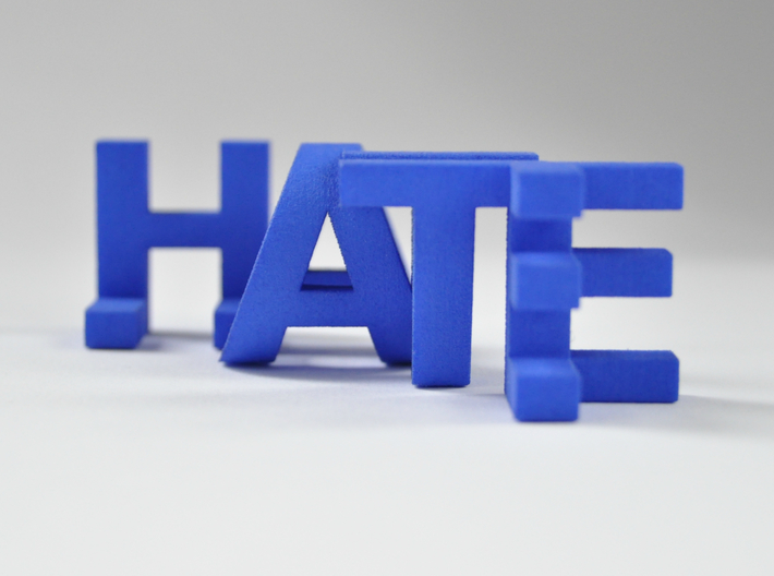 FontFlip LOVE-HATE 3d printed