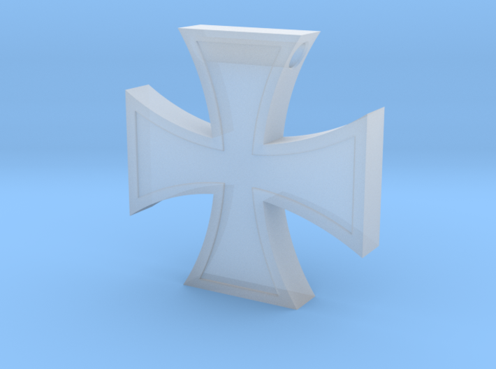 Iron Cross Pendant Revised 3d printed