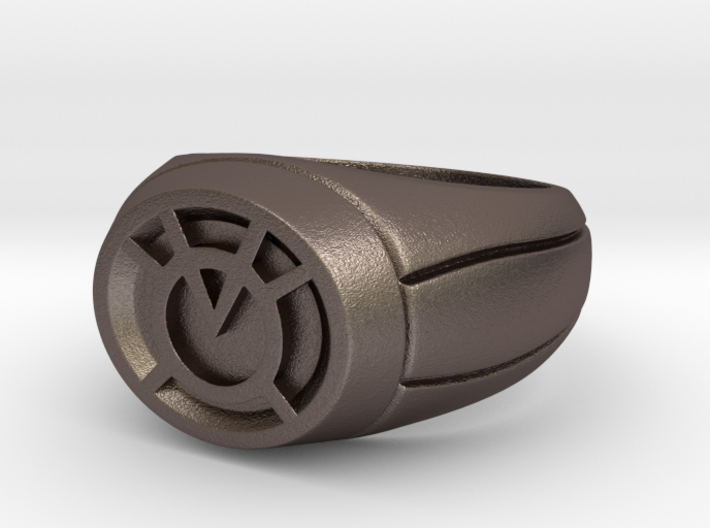 Orange Lantern Ring 3d printed
