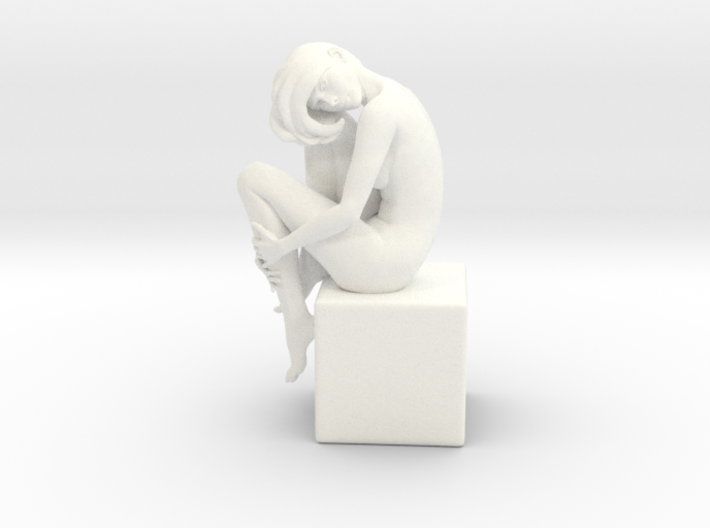 Girl On Box 3d printed