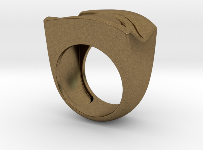 David's Eye Ring Hollow 3d printed