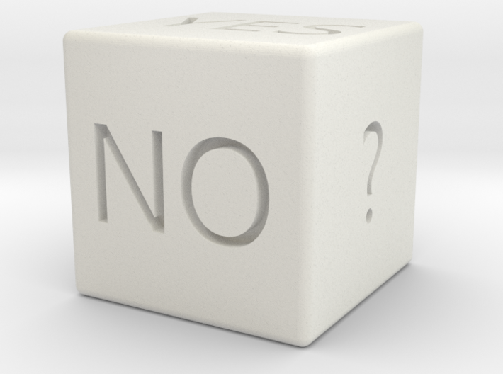 Yes or No Dice 3d printed