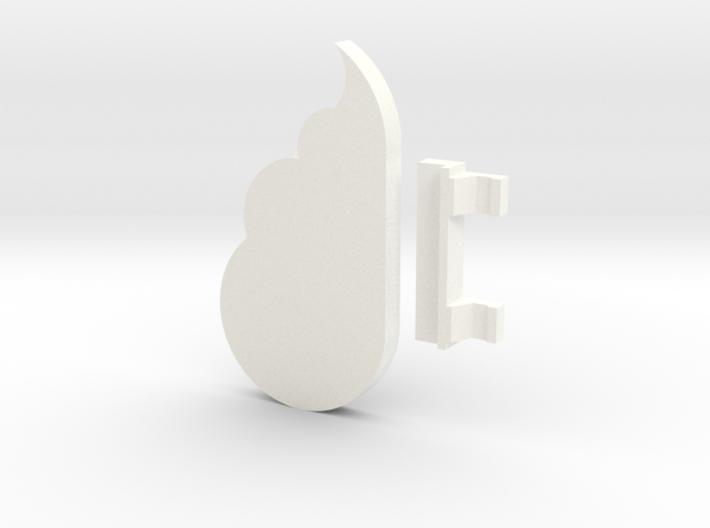 Cloud Keychain Holder 3d printed