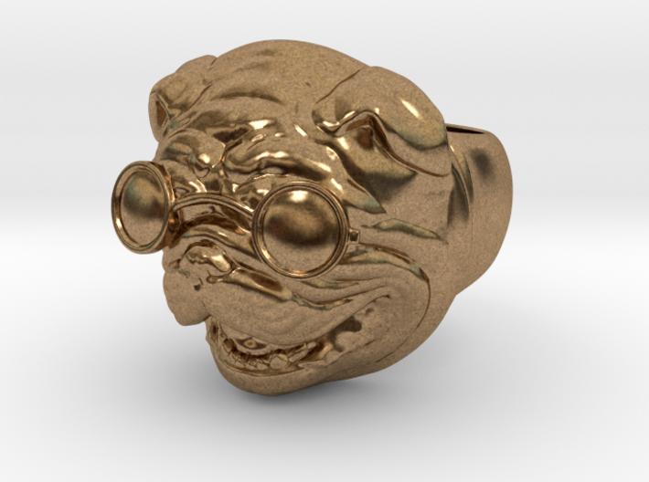 Bulldog Ring Hollow 3d printed