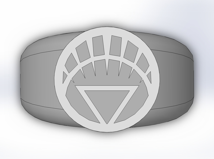 White Lantern Ring 3d printed