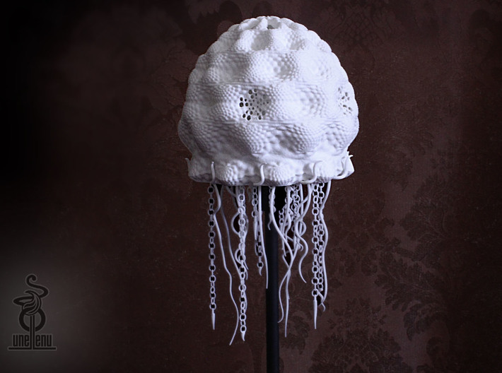 Jellyfish lampshade top : part A 3d printed