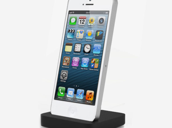 Iphone 5 elevation dock 3d printed