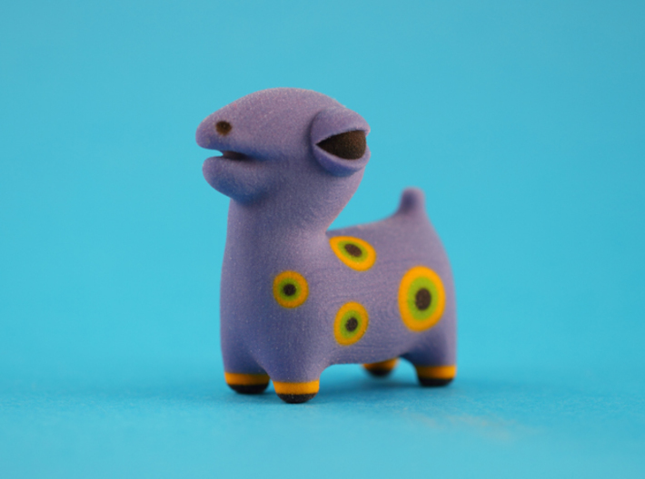 Spotted Blue Animal 3d printed