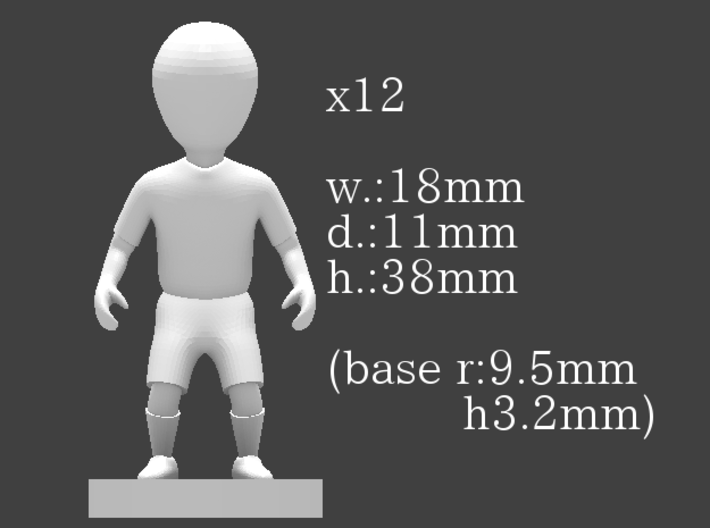 small figures kit for Strategist 3d printed 3d printed figure size