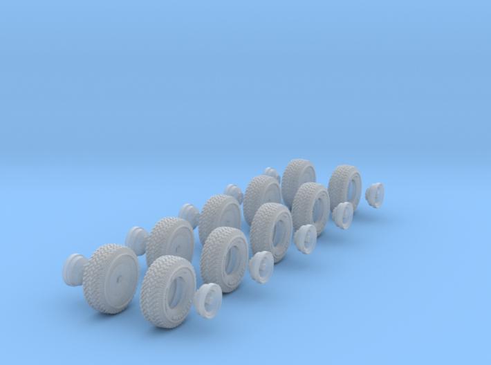 1-87 Pro-Comp Tire+Rim 2 Types 3d printed