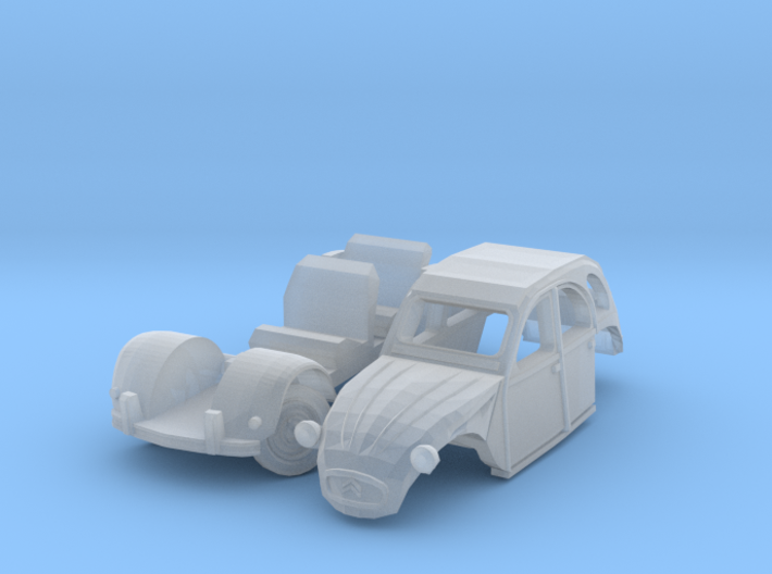 Citroën 2CV - parked (N 1:160) 3d printed