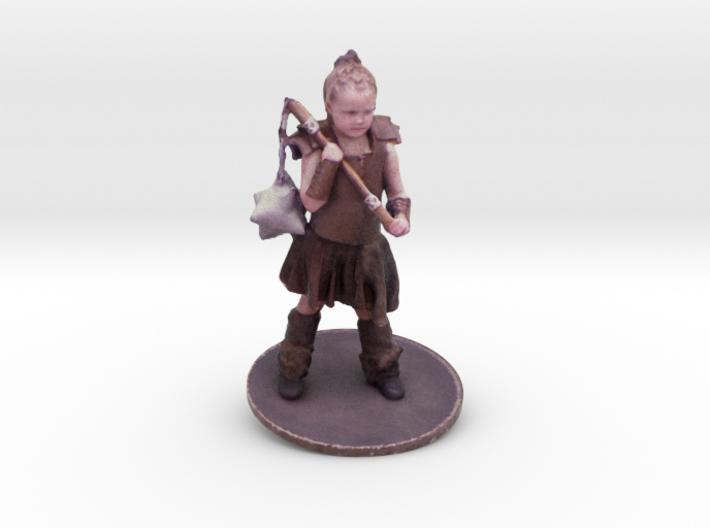 Chris M. As Warrior Girl 3d printed