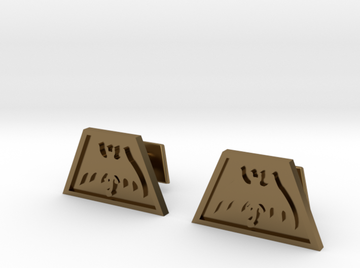 Order of the Trapezoid Cufflinks 3d printed