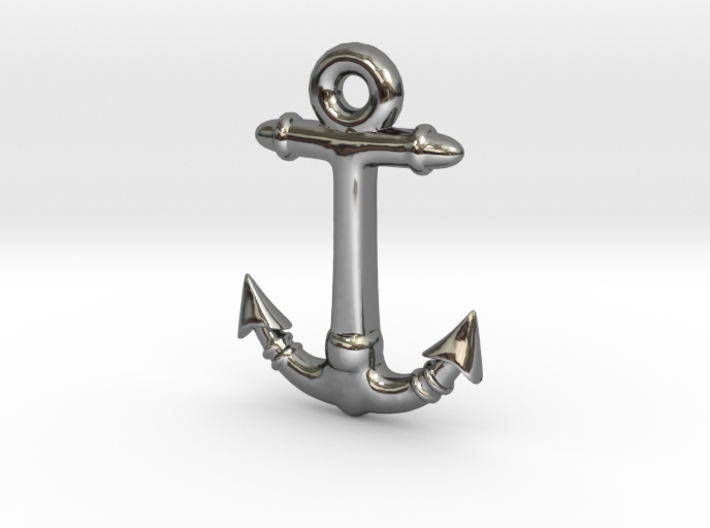 Anchor Pendant 2 3d printed