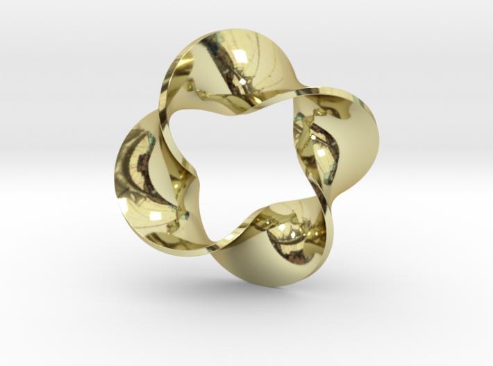 0160 Mobius strip (p=4, d=10cm) #008 3d printed