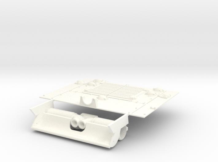 1-16 M10 Diesel Exh-Deflector + Engine Grill 3d printed